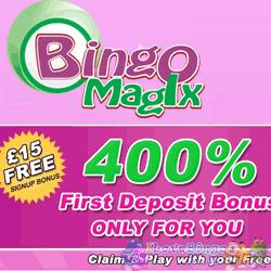 Exclusive 400% Bonus with Bingo Magix